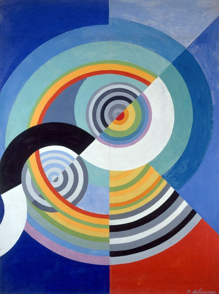 Robert delaunay rythme no 3 decoration pour le salon for Abstract salon of the arts