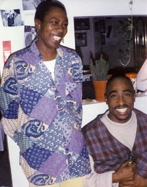 Tupac with his mother,former Black Panther Party member,Afeni Shakur.