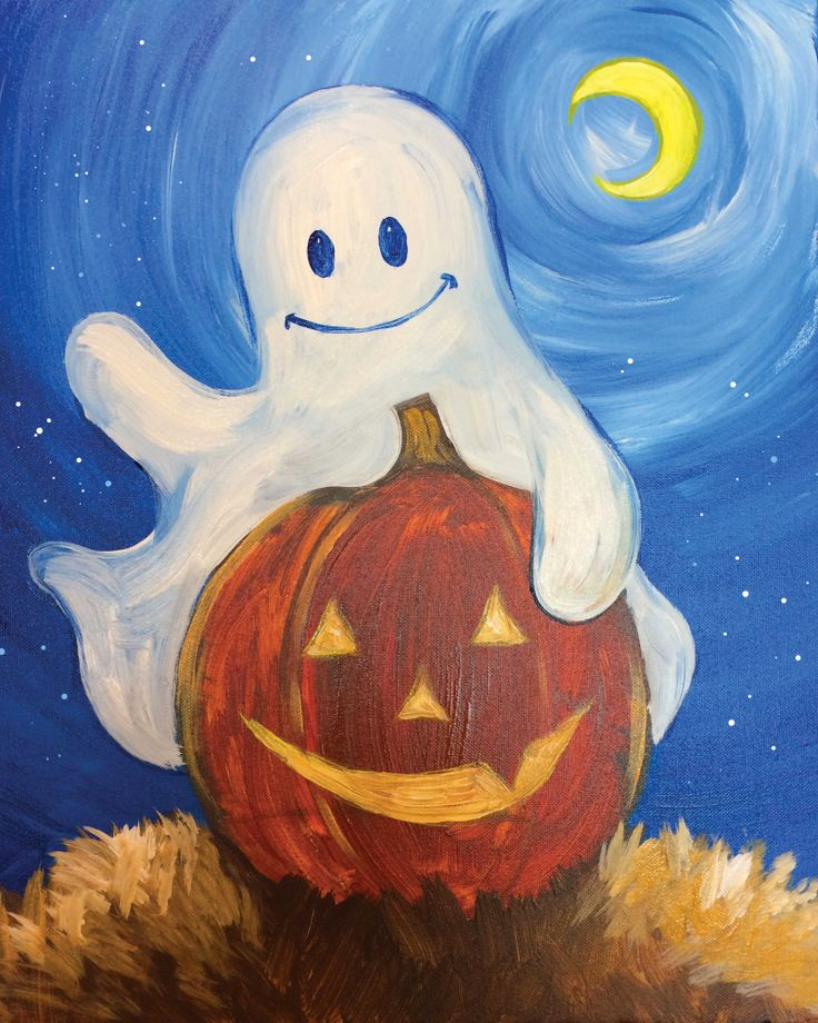 I am going to paint Boo Buddies at Pinot's Palette - Broken Arrow to discover my inner artist!