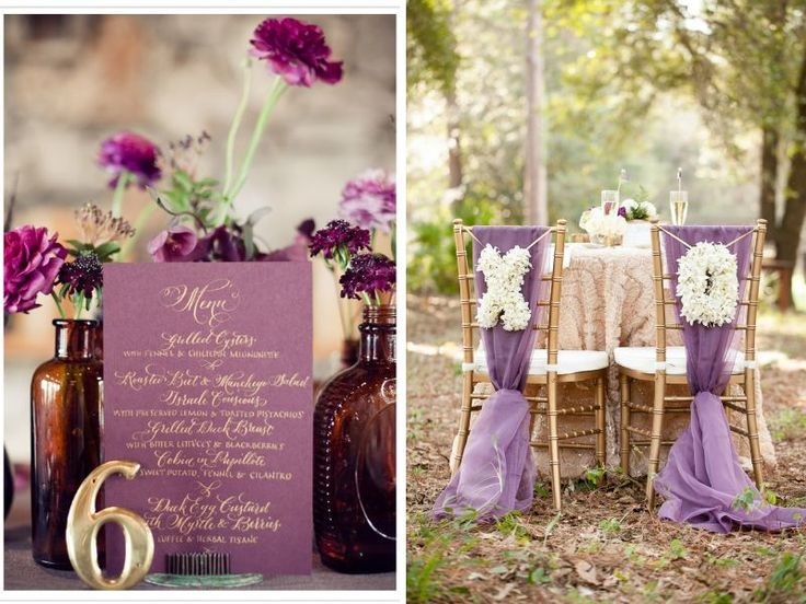 Champagne and Plum Wedding - Champagne and Light Blue Wedding and other Great Combos - EverAfterGuide