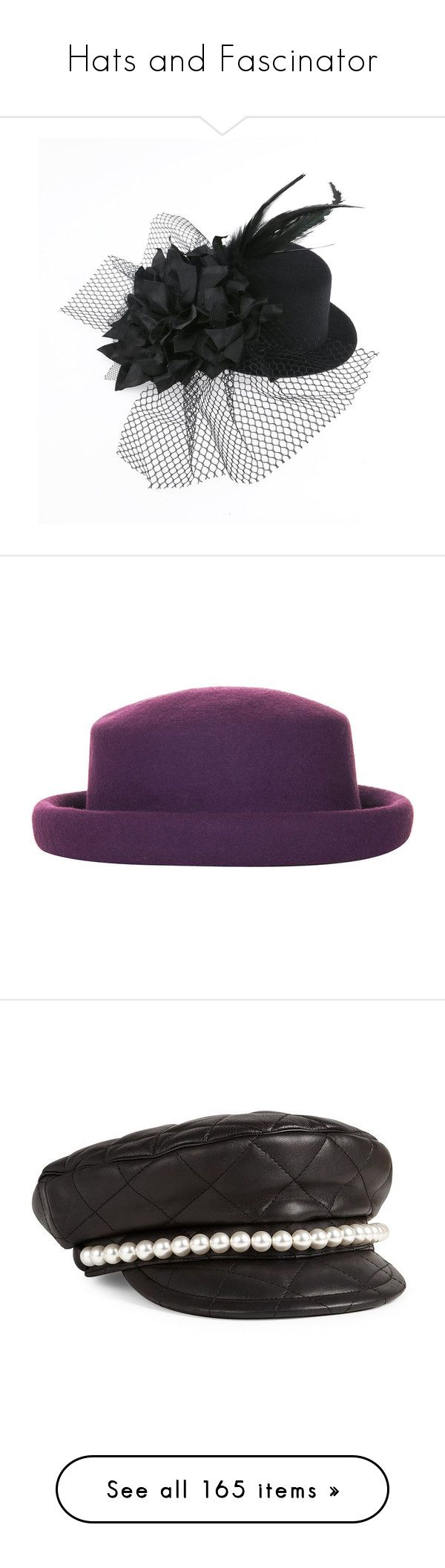 """""""Hats and Fascinator"""" by rebellious-ingenue ❤ liked on Polyvore featuring accessories, hats, topshop, plum, woolen hat, topshop hats, brimmed hat, porkpie hat, pork pie hat and apparel & accessories"""