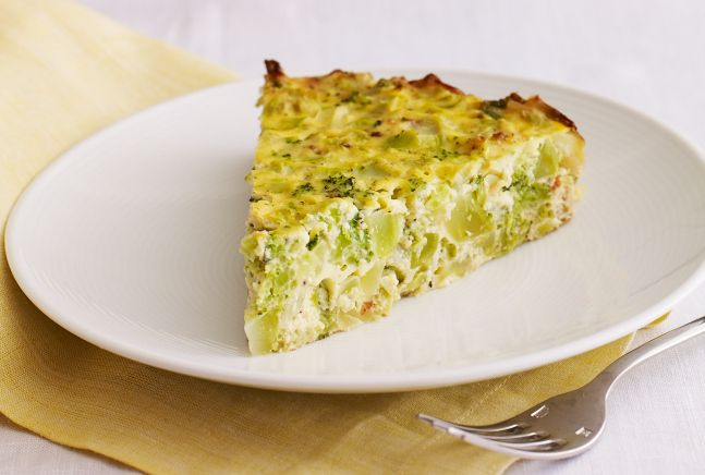 Broccoli Kugel. So good and easy. I have used regular eggs & Egg Beaters. They worked just fine. Renee.