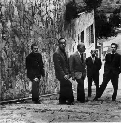 Los Maestros       Alejandro Obregon, Enrique Grau, Guillermo Wiedemman, Eduardo Ramirez Villamizar y Fernando Botero. Fotografia de 1959