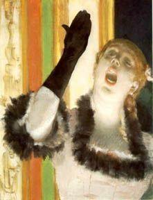 Edgar Degas, Singer with a glove, 1878