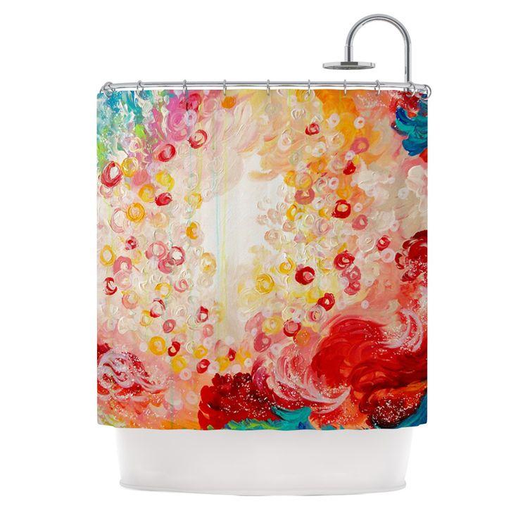 red and tan shower curtain. Ebi Emporium  Summer Days Red Tan Shower Curtain from KESS InHouse Best 25 shower curtain ideas on Pinterest Cream