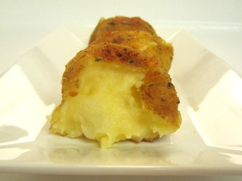 Fried Garlic Cheddar Mashed Potato Balls. These sound absolutely delicious!!