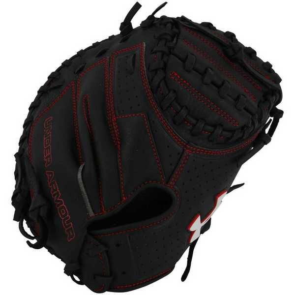 Under Armour YOUTH Framer Series Catchers Baseball Glove, Black/Red. UACM-100Y