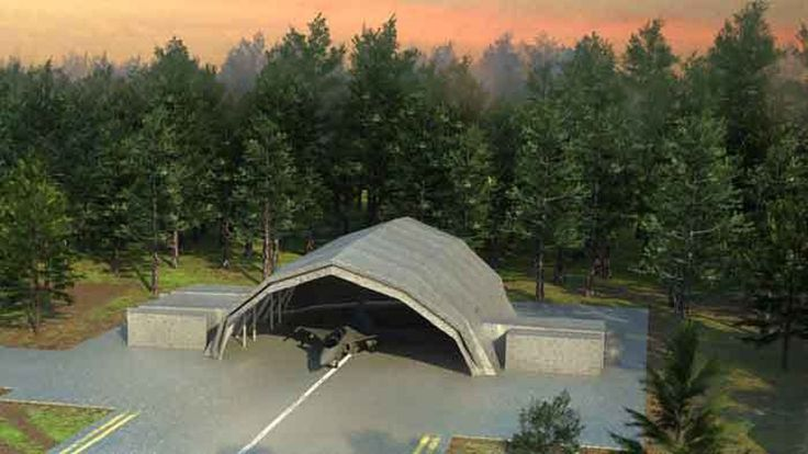 Hanggar Kamuflase dan Deployable Aircraft Maintenance Facility Rancangan Saab | https://www.hobbymiliter.com/5851/hanggar-kamuflase-dan-deployable-aircraft-maintenance-facility-rancangan-saab/