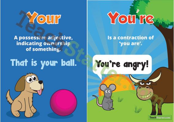 Your and You're Poster | Teaching Resources - Teach Starter