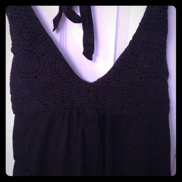 Victoria S Secret Crocheted Bra Top Shirt Black Vs