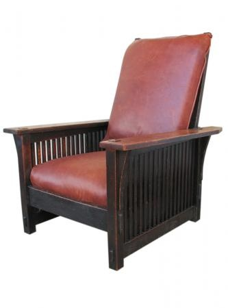 Gustav Stickley Spindled Morris Chair (this Is Similar To The Chairs A  Friend Is Giving