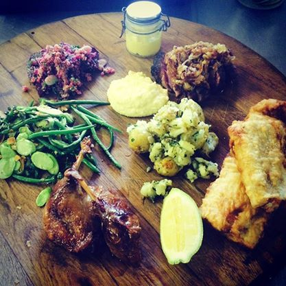 Delicious organic cuisine at Summerfields