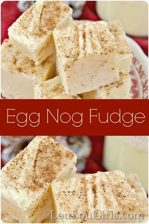 Egg Nog Fudge ~ This recipe is super delicious and fairly easy to make.