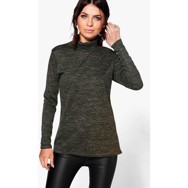 Boohoo Brooke Roll Neck Jumper featuring polyvore women's fashion clothing tops sweaters wrap sweater turtle neck sweater knit sweater sequined sweater party jumpers