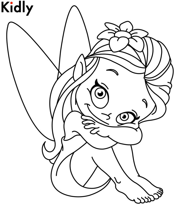 fairy child coloring pages - photo#40