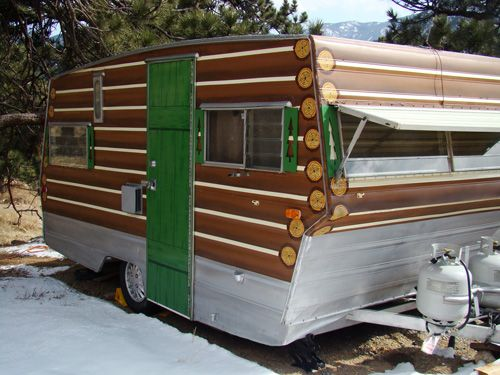 Rv net open roads forum travel trailers wow decals are expensive camper exteriors - The recreational vehicle turned cabin in the woods ...