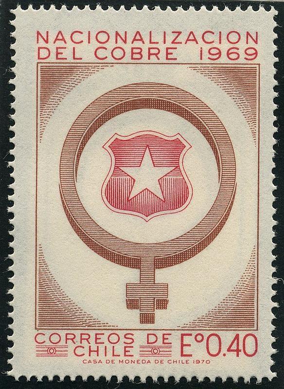 Nacionalización del cobre, 1969.