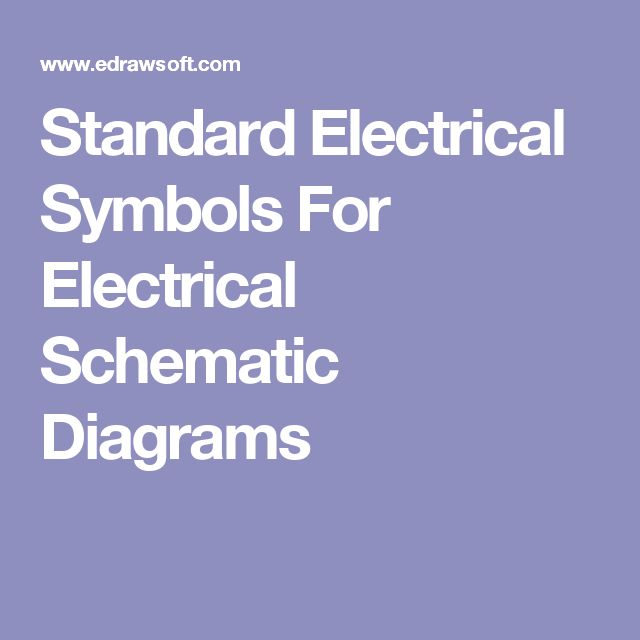 Electrical Schematic Diagram Symbols For Pinterest - Wiring Diagram DB
