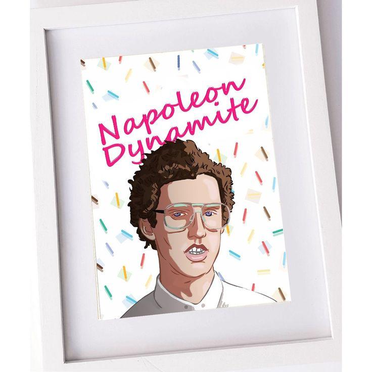 Napoleon Dynamite movie poster. Fan art print. A3, A4 or A5.