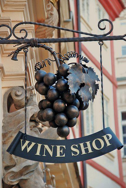 wine shop in prague