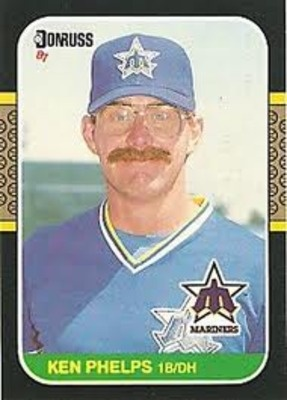 Ken Phelps 1b Dh Cross Eyed Baseball Cards Baseball Baseball Humor
