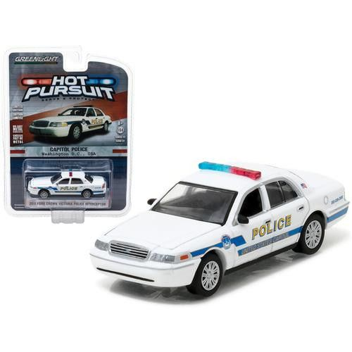 2011 Ford Crown Victoria Police Interceptor Capitol Police Washington, D.C. 1/64 Diecast Model Car by Greenlight