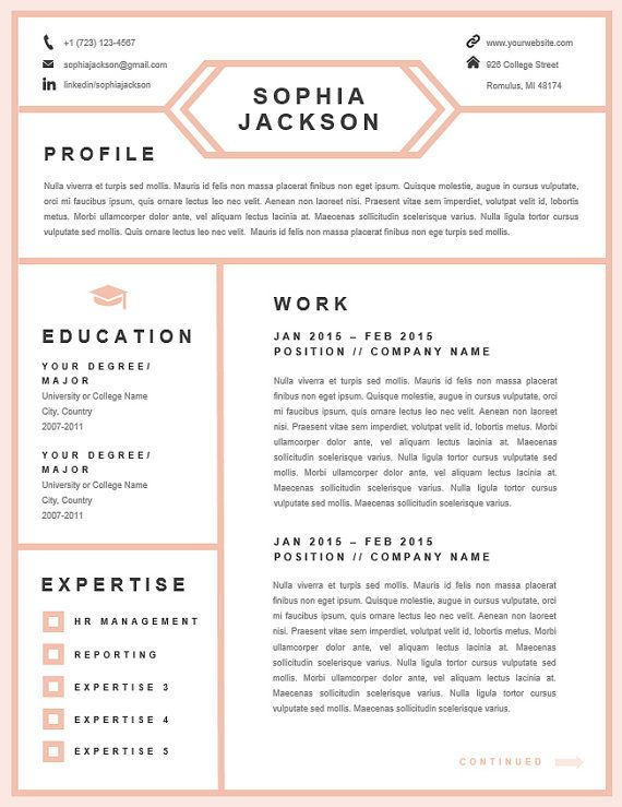 139 Best Job Things Images On Pinterest | Resume Templates, Resume