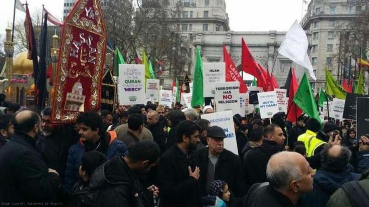 Media Ignores Hundreds of Muslims Marching Against Terrorism in London and Missouri