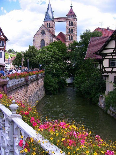 Picturesque city of Esslingen am Neckar in Baden-Württemberg, Germany  (by roba66 )