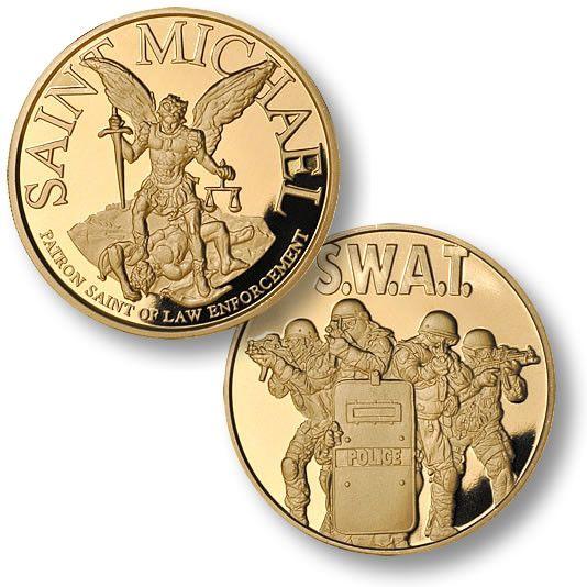 Saint Michael SWAT 4 MerlinGold® Coin