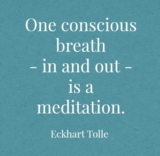 One conscious breath … ♥