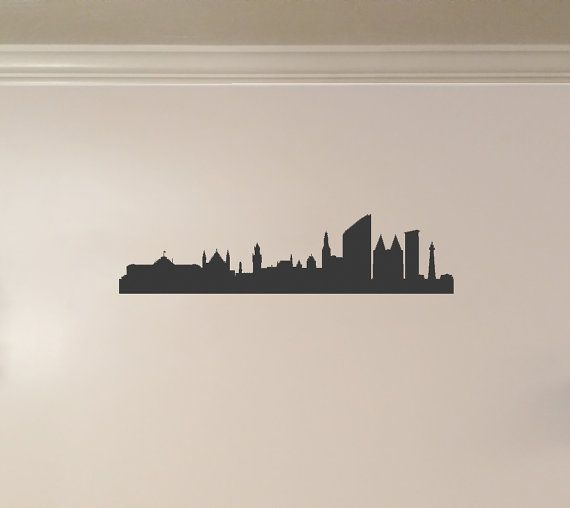 Den Haag Netherlands Holland City Skyline by KickinStickers.