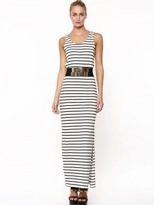 Striped maxi dresses online