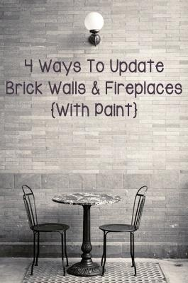 Ways to update brick walls fireplaces for the home pinterest