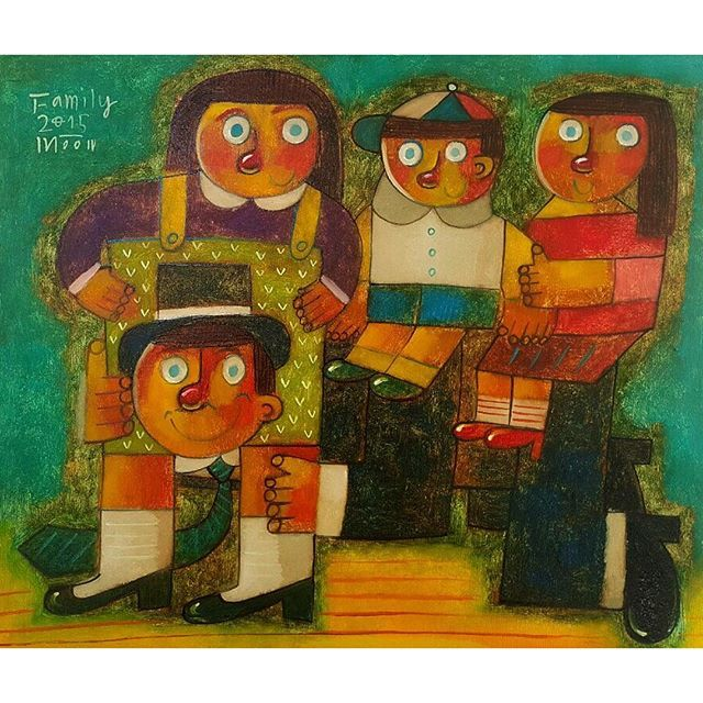 - Family  #현대미술 #KIAF #대한민국국제아트페어 #COEX #키아프 #맥화랑 #문형태 #moonhyeongtae #미술 #art #artist #painter #oilpainting #painting #exhibition #전시 #moon