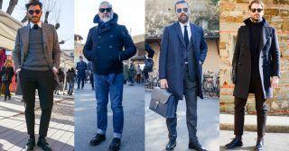 """ピッティウオモといえば、年に2度だけ行われる世界最大規模のメンズファッションブランド展示会だ。コレクション会場と違い、ビジネスのために世界各国からファッション業界を牽引するバイヤー達が集う場でもあるため、リアルな最先端のビジネススタイルをチェックできる。今回は、2017年1月に行われた""""ピッティウオモ 91""""にフォーカスして注目の着こなしを紹介! アルスターコート×タイドアップシャツスタイル ネイビーのアルスターコートに、ホワイトタイドアップシャツを合わせたスタイリング。タイにネイビーをチョイスして統一感のある雰囲気に。足元はホワイトレザースニーカーをチョイスして軽快な印象をプラス。  TAGLIATORE(タリアトーレ) ポロコート イタリア語で裁断士の意味を持つ「TAGLIATORE(タリアトーレ)」。ワイドラペルが男性的なたくましさを演出するダブルコート。  詳細・購入はこちら  adidas STAN SMITH ギネス上、世界で一番履かれているスニーカーと記録されているアディダスのスタンスミス。  詳細・購入はこちら ブラックチェスターコート×カモ柄..."""