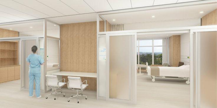 Patient Room Entryway Rendering of The Christ Hospital in Cincinnati