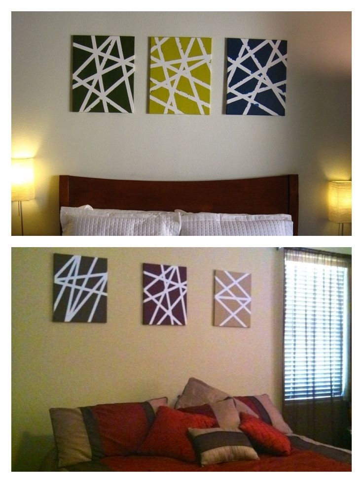 Easy canvas paintings designed with painters tape my for Tape painting on canvas