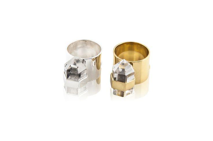 Krystal Knight natural ring sterling silver