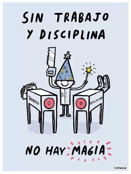 Trabajo + disciplina = Magia