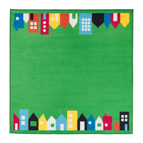Ikea Hemmahos Rug The S Thick Pile Dampens Sound Creating A Snug Feeling And Is Soft To Walk On Playing Rooftops Countin