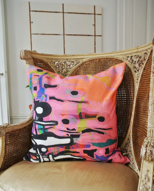 Tools Allover, cushion cover by Camilla Eltell Design! #nordicdesigncollective #camillaeltelldesign #cushion #pillow #pillowcase #cushioncase #design #textile #printedtextile #homedecor #interiordesign #Pattern #pink #black #yellow #blue #orange #cushioncover #tools #toolsallover