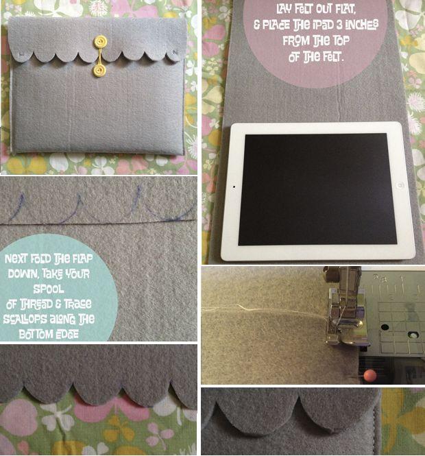 """{DIY} 5 Formas De Hacer Una Funda """"handmade"""" Para Tu Tablet / Ipad   Cosas Molonas   DIY Blog"""