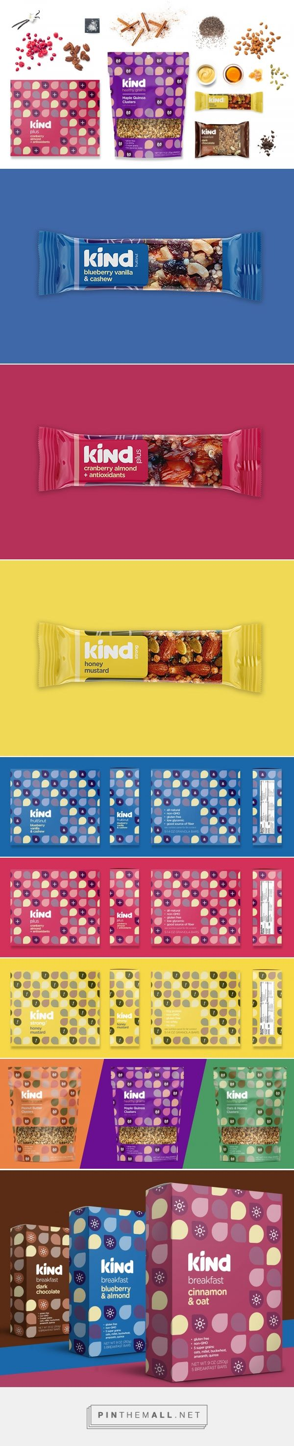Kind Snacks Rebrand (Student Project) - Packaging of the World - Creative Package Design Gallery - http://www.packagingoftheworld.com/2017/09/kind-snacks-rebrand-student-project.html