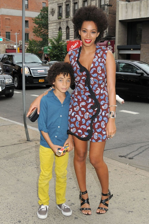 Spotted: Solange & Son Juelz At Stella McCartney's Event