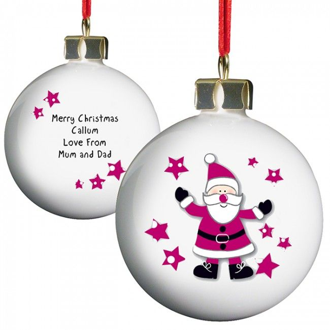 Father Christmas Personalised Bauble
