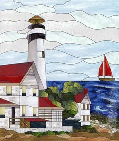 499 Best Images About Stained Glass Nautical On Pinterest ...
