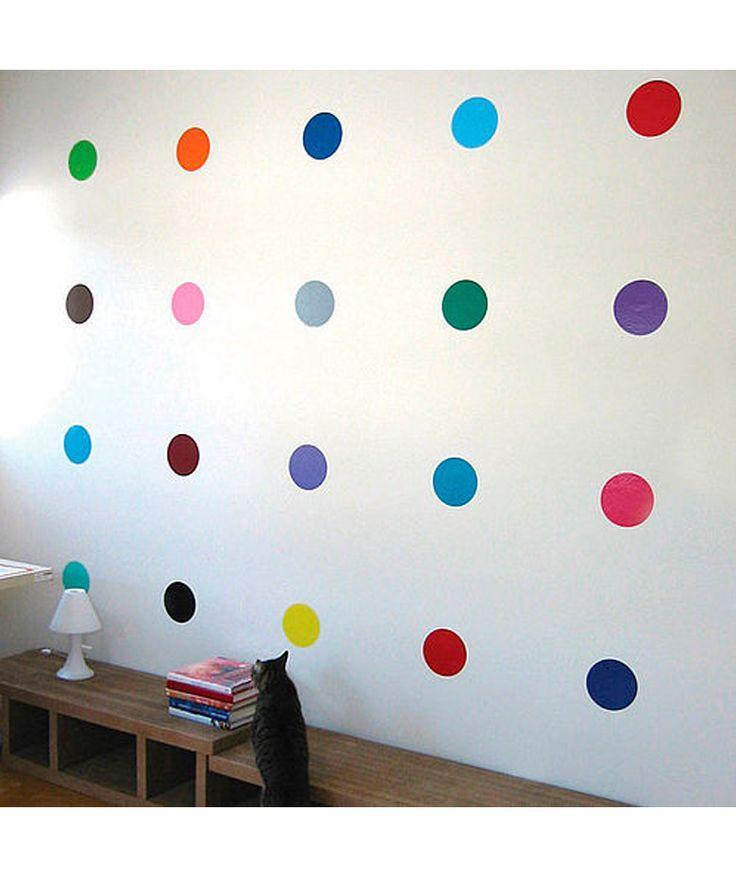 Circulos de de colores vinilo adhesivo decoraci n de for Adhesivos neveras decoracion