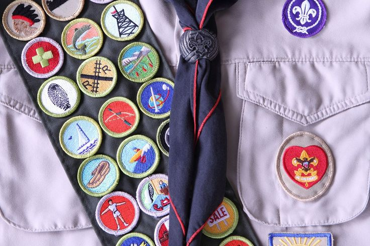 My son's Scout uniform on People Magazine.