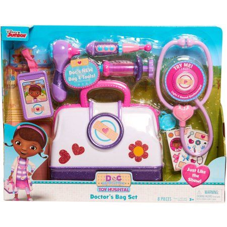 Disney Doc Mcstuffins Toy Hospital Doctor's Bag Set - Walmart.com